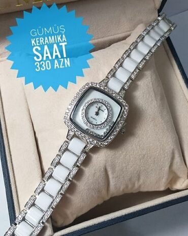 bmw 330 - Azərbaycan: Gümüşü Qadın Qol saatları AM:PM