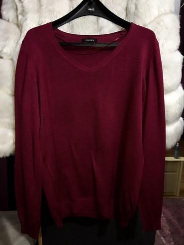 Pink haljina newyorker - Srbija: Amisu Newyorker oversize dzemper bordo