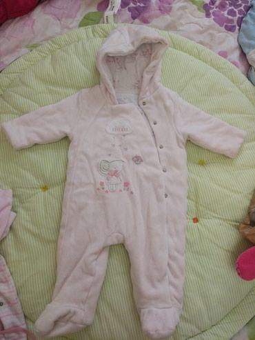 весенние комбинезоны для новорожденных в Азербайджан: Демисезонный комбинезон Mothercare нежно розового цвета на 3-6 месяцев