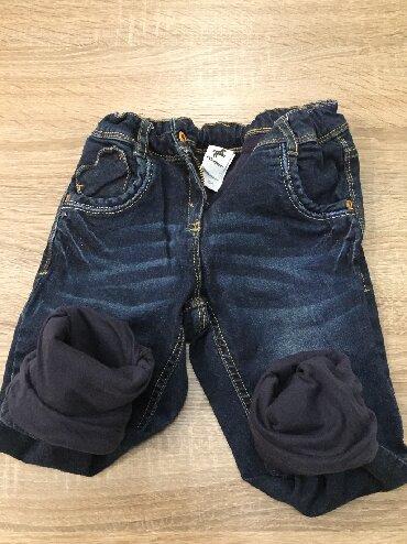 Ostala dečija odeća - Indija: Tople termo farmerkeC&A Palomino 104(3-4god) malo nosene za
