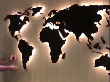 Карта Мира на стене с подсветкой от 2990 в Бишкек