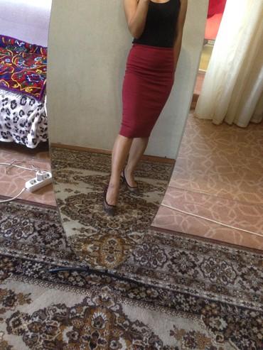 юбка бордовая в Кыргызстан: Юбка размер S 42 бордовая