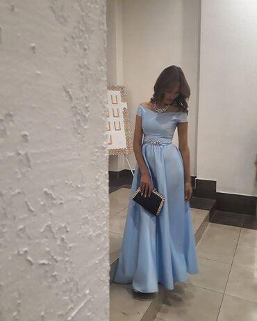 вечернее платье 44 размер в Кыргызстан: Платье в пол Ткань дорогой шёлк  Размер 42-44 Одевала 1раз