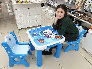 столик детски в Кыргызстан: Детский столик и стульчик - чудесная и очень любимая малышами мебель