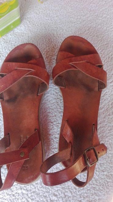 Kozne sandale rucni rad 39 - Crvenka