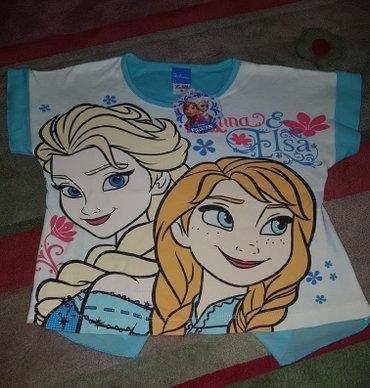 Disney FROZEN Anna i ELSA MAJICA. Kratak rukav, pozadi donji deo ima t - Beograd