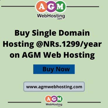 Buy Single Domain Hosting @NRs.1299/year on AGM Web Hosting:Want