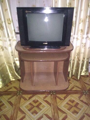 Электроника - Заречное: Продам телевизор в рабочем состоянии с тумбой за 2000