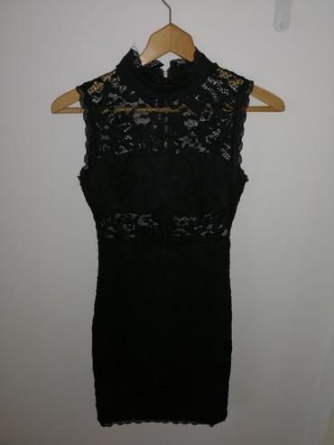 Ženska uska crna haljinica Jednom obučena, nova! Veličina S/M - Obrenovac