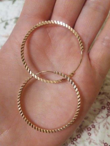 Новые золотые сережки 6,5 гр в Бишкек