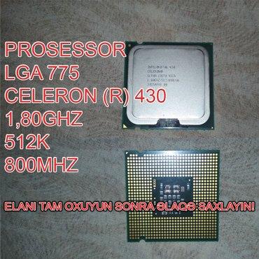 Bakı şəhərində Prosessor (CPU) Celeron (R) 430