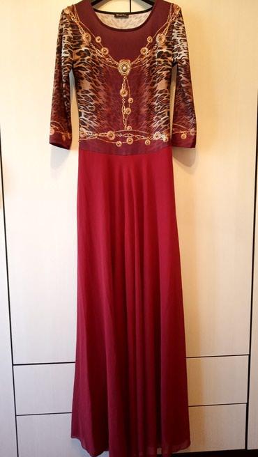 турецкое платье шифон в Кыргызстан: Турецкое платье в пол.размер 38.Верх стреч низ шифон с подкладом.На