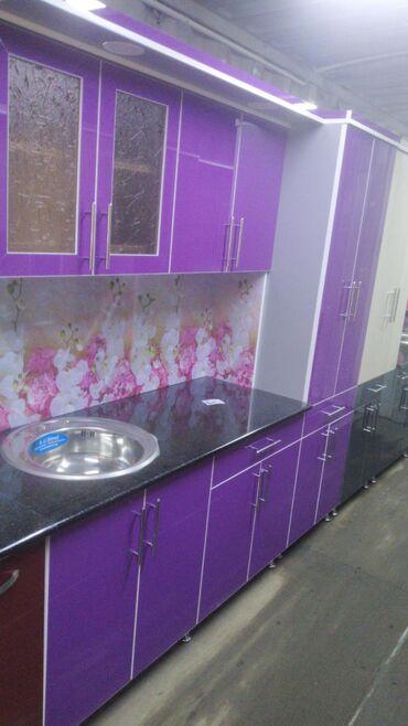 Кухня 2метр акрил с достовкой по городу. Корпусная мебель на заказ люб
