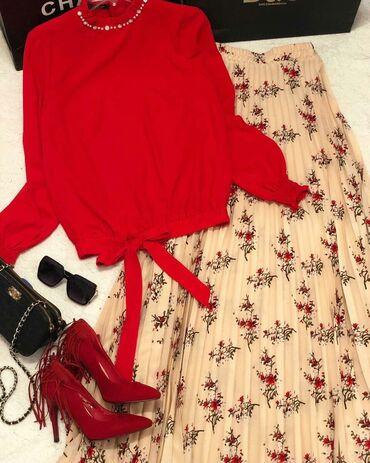 Рубашки и блузы в Кыргызстан: Ткань ТурцияКостюм !!! Блузка декорирована набитым жемчугом и набитым
