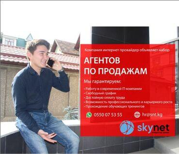 Работа торговый агент - Кыргызстан: Торговый агент. Без транспорта. Без опыта. 5/2