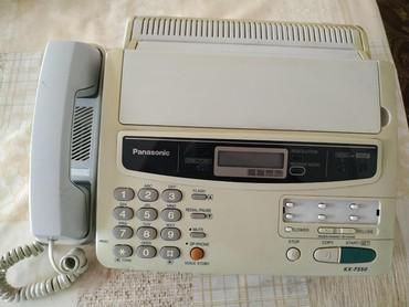 Телефонов факсов - Кыргызстан: Факс, рабочий, сделан в Японии. Даже бумага осталось внутри. Состояние