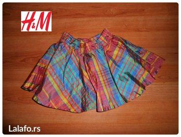 Suknja H&M vel. 3-4  dimenzije su sledece ...sirina struka 24-35 - Beograd