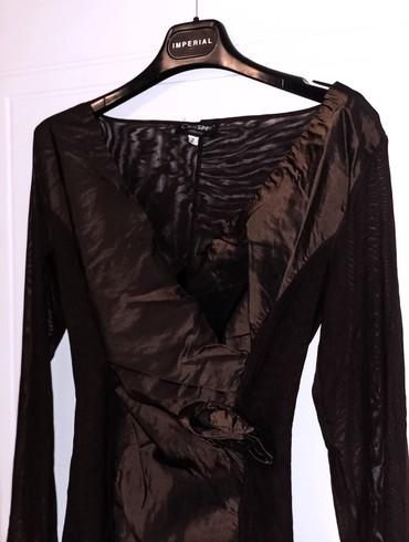 Braon bluza, u M velicini (elastin, poliester). Kao nova, bez - Kragujevac