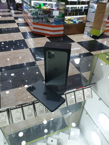 купить бу iphone 11 pro в Кыргызстан: Б/У IPhone 11 Pro Max 256 ГБ Зеленый