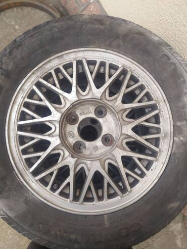 железные диски r14 в Кыргызстан: Отдаю в хорошие руки комплект дисков с резиной, размер R14 195*65Один