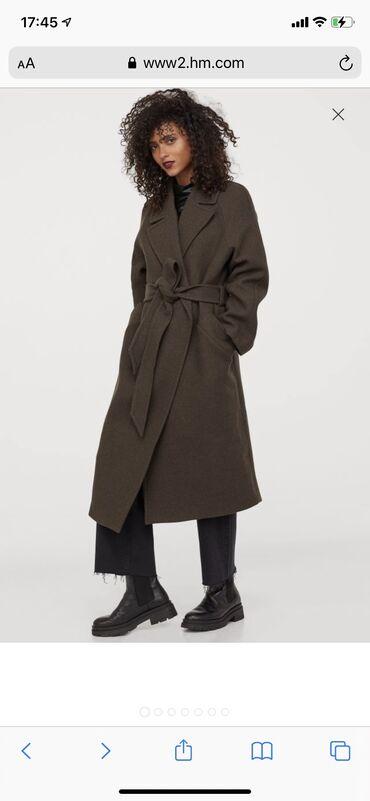 Пальто H&M размер XL  Пальто длиной до икры из переработанной ита