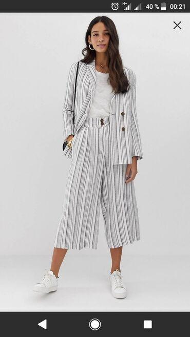 Льняной пиджак в полоску ASOS DESIGNНовыйМатериал: хлопок