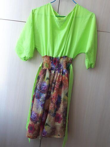 Продаю новое платье 400 сом .Верх неоновый