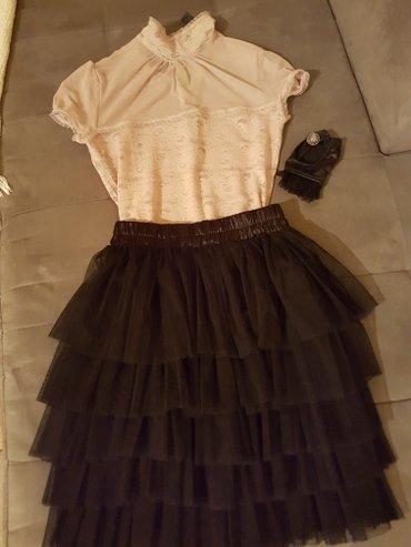 Mango majica, cipka, jednom obucena, 1100dinara, S velicina, suknja od - Novi Sad