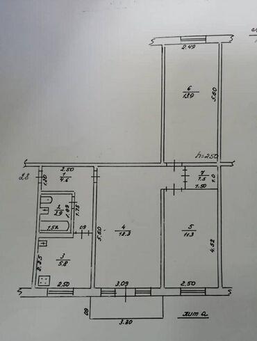 Квартиры в Кыргызстан: Продается квартира: 3 комнаты, 58 кв. м