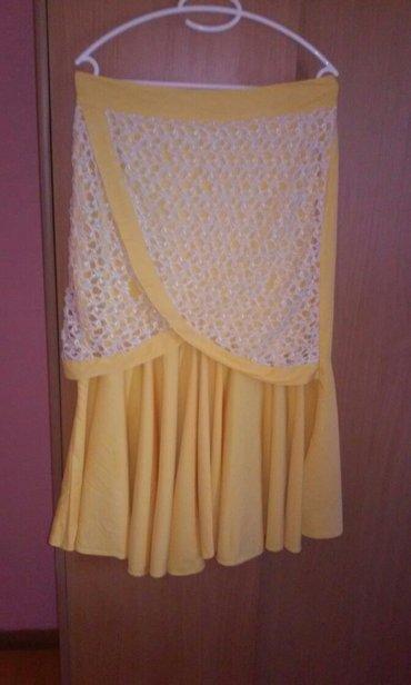 Izuzetna suknja,prelepog dezena sa fantasticnom cipkom,obucena svega - Vrnjacka Banja