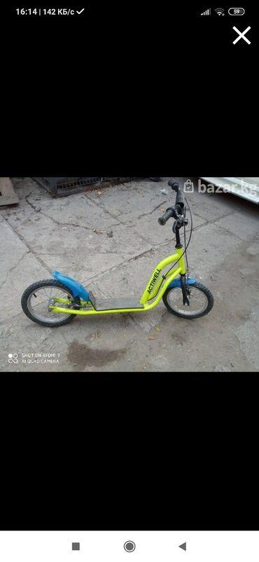 самокаты scooter в Кыргызстан: Самокат, привезен с России. Выдерживает вес до 70 кг. Состояние