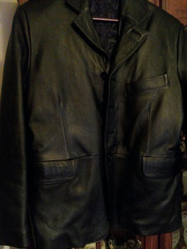Kozna muska crna jakna, sa punijom stepanom postavom, nova, velicine - Crvenka