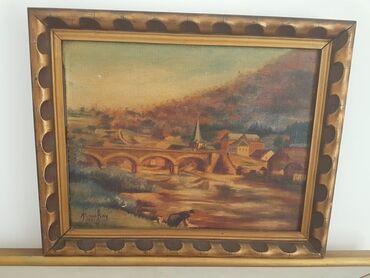Slike na platnu - Srbija: Odlicna slika u lux ramu dimenzije33 cm40 cm SLIKA JE ULJE NA