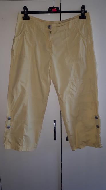 Pantalone zute - Srbija: Letnje zenske pantalone 7/8 (38/40)Letnje zenske pantalone 7/8