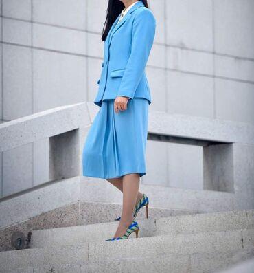 платье халат на запах в Кыргызстан: Продаю платья и юбку-пиджак размеры 38.  Юбка пиджак  Платье марсала