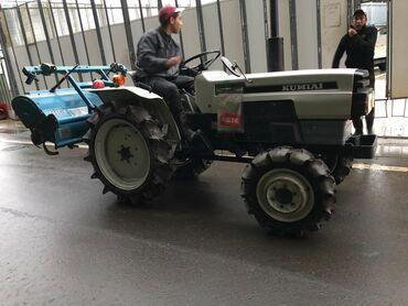 Японский мини трактор Митсубиси. 4-х цилиндровый дизельный трактор с