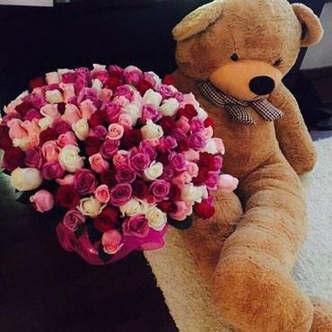 Розы и любимые мишутки в Бишкек