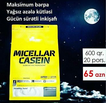 Bakı şəhərində Micellar Casein - yuxu saatları boyunca aclığın təxribedici