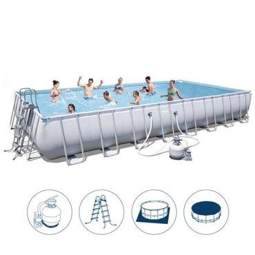 Бассейн-купить - Кыргызстан: Бассейн каркасный прямоугольный Bestway арт. 56479, купить в Бишкеке
