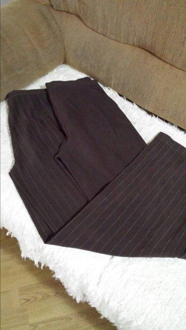 Elegantna italijanske pantalone, moda mi, 46 veličina, braon i na - Velika Plana