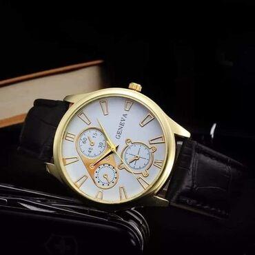 Po ceni - Srbija: Elegantni kvarcni muški sat zlatno/beli Geneva Cena: 1.200Kućište