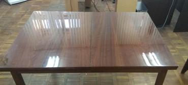 стол трансформер раскладной в Кыргызстан: Продаю раздвижной стол трансформер деревянный лакированный. В раздвижн
