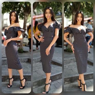 Платье.  Коктельное платье. Изящное,  утонченное Ткань хлопок-стрейч в Кант