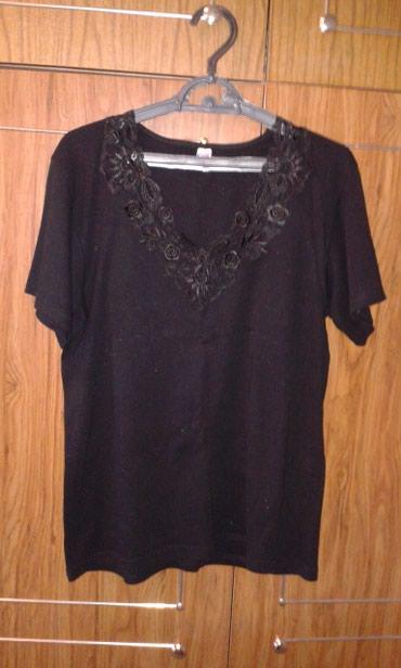 футболка-турция в Кыргызстан: Футболка с вышивкой, черная, размер 54-56, турция