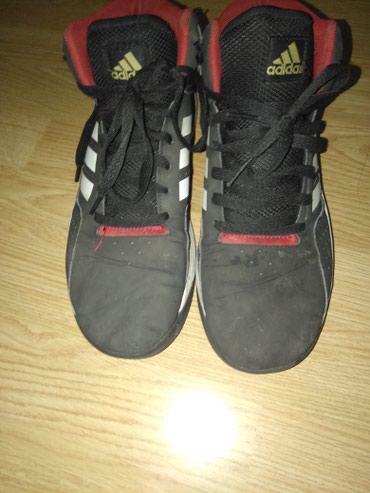 Adidas crne patike broj 40,,jednom nosene,nove,nisu iscepane niti - Mladenovac