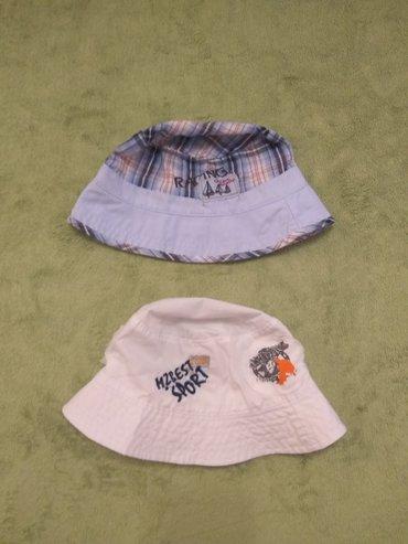 Zenske kape obim cm - Srbija: 1. šešir karirani, bez oštećenja, obim 50 cm. Cena 250,00 dinara. 2