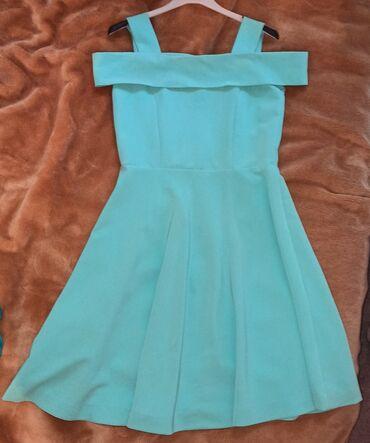 вечерние платья новая коллекция в Азербайджан: Paltar, платье мятного цветаM/L Шили на заказ, носили 2-3 раза, в
