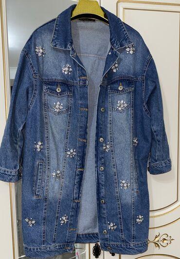 Шикарная джинсовая курточка в идеальном состоянии размер м-л