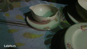 Prelepi porcelanski set, za ručavanje..  Set čine dve činije za čorbic - Cuprija - slika 8