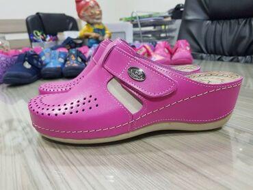 Pink kosuljoca - Srbija: Klompe VISOOOKA PLATFORMA kožne Novo! Pink